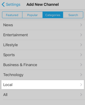 SmartNews Category List